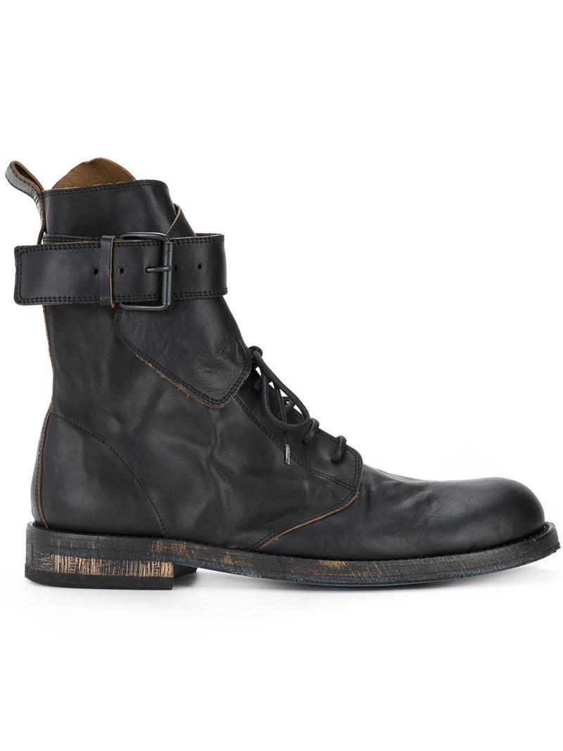 Ann Demeulemeester buckle strap ankle boots under $60 x4kwWPKP0f