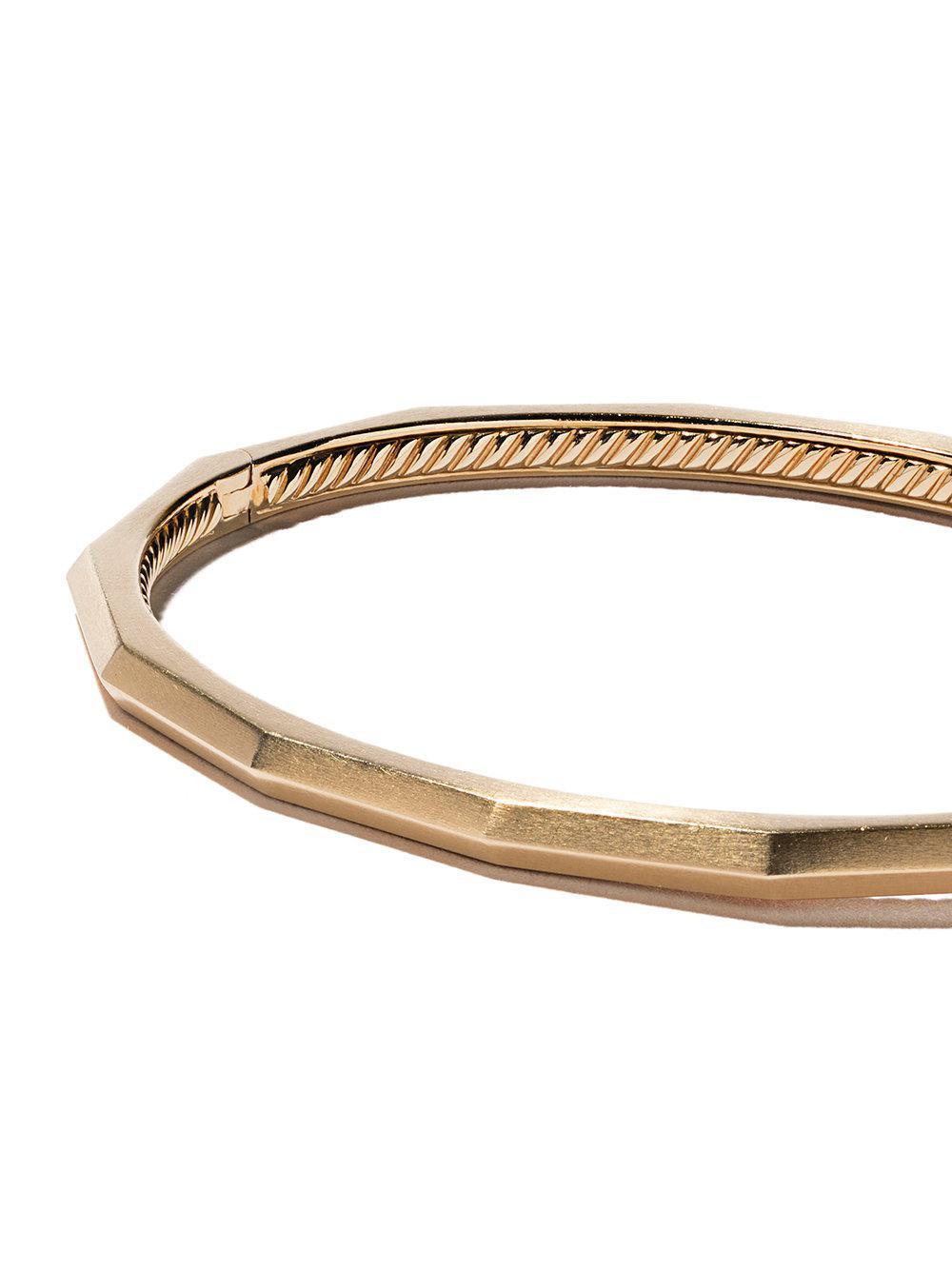David Yurman 18kt yellow gold Stax faceted diamond bangle - Metallic AvUiXctrWV