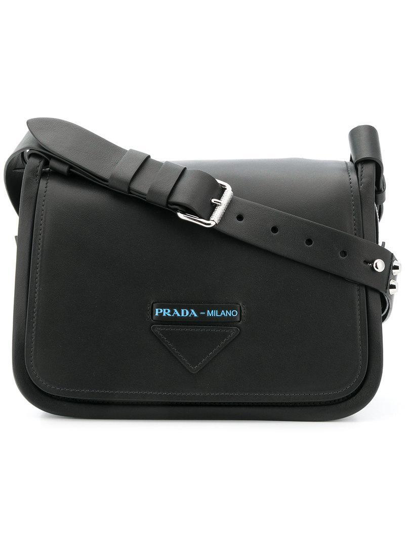 fb069e8bdfdae1 Prada Grace Lux Shoulder Bag in Black - Lyst