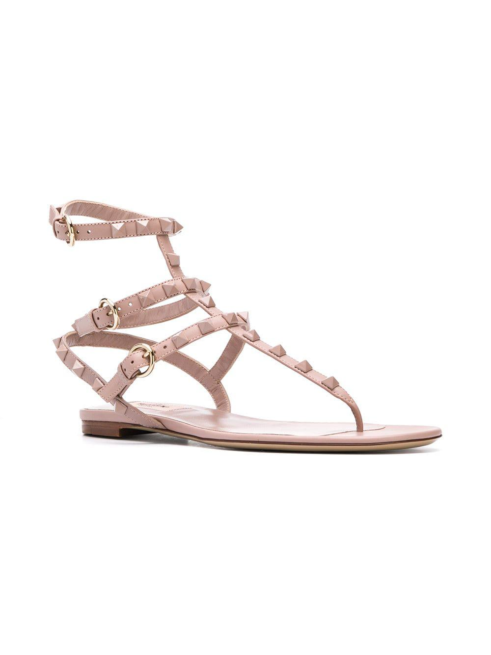 c8ca61399dba Valentino Garavani Rockstud Sandals - Save 3% - Lyst