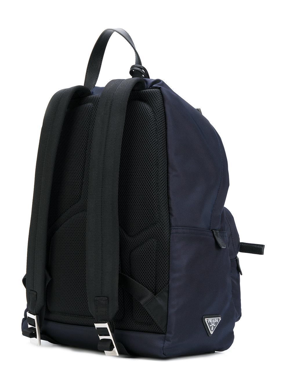 0ba63818250f ... cheap prada large zip backpack in blue for men lyst a1767 9e1d9