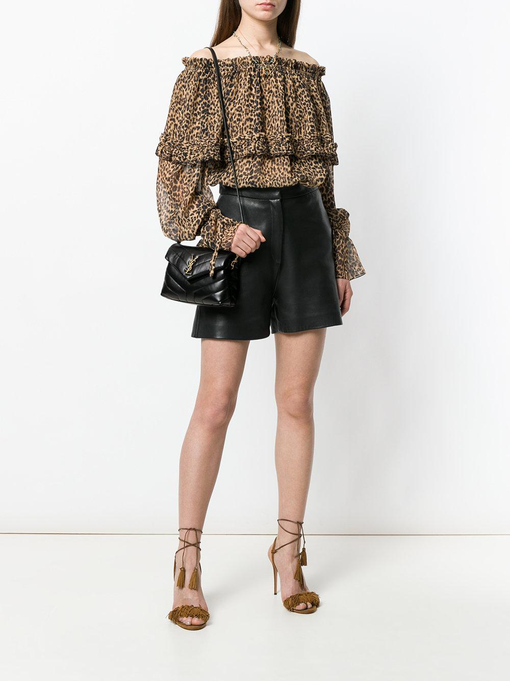 Lyst - Saint Laurent Toy Loulou Shoulder Bag in Black - Save 12% f6214f8775540