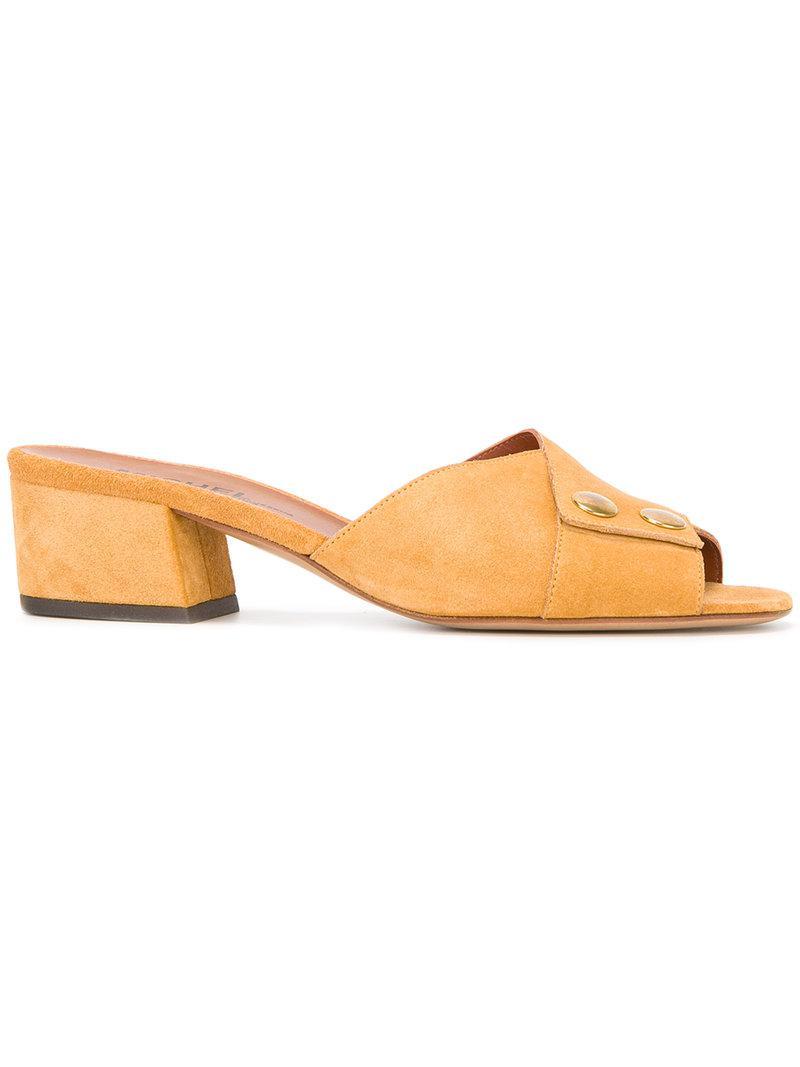 block heel sandals - Yellow & Orange Michel Vivien Ui0xou