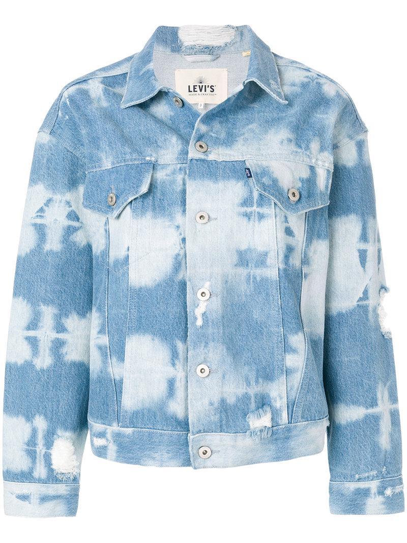 5ea5647b1f4 Lyst - Levi s Tie Dye Denim Jacket in Blue