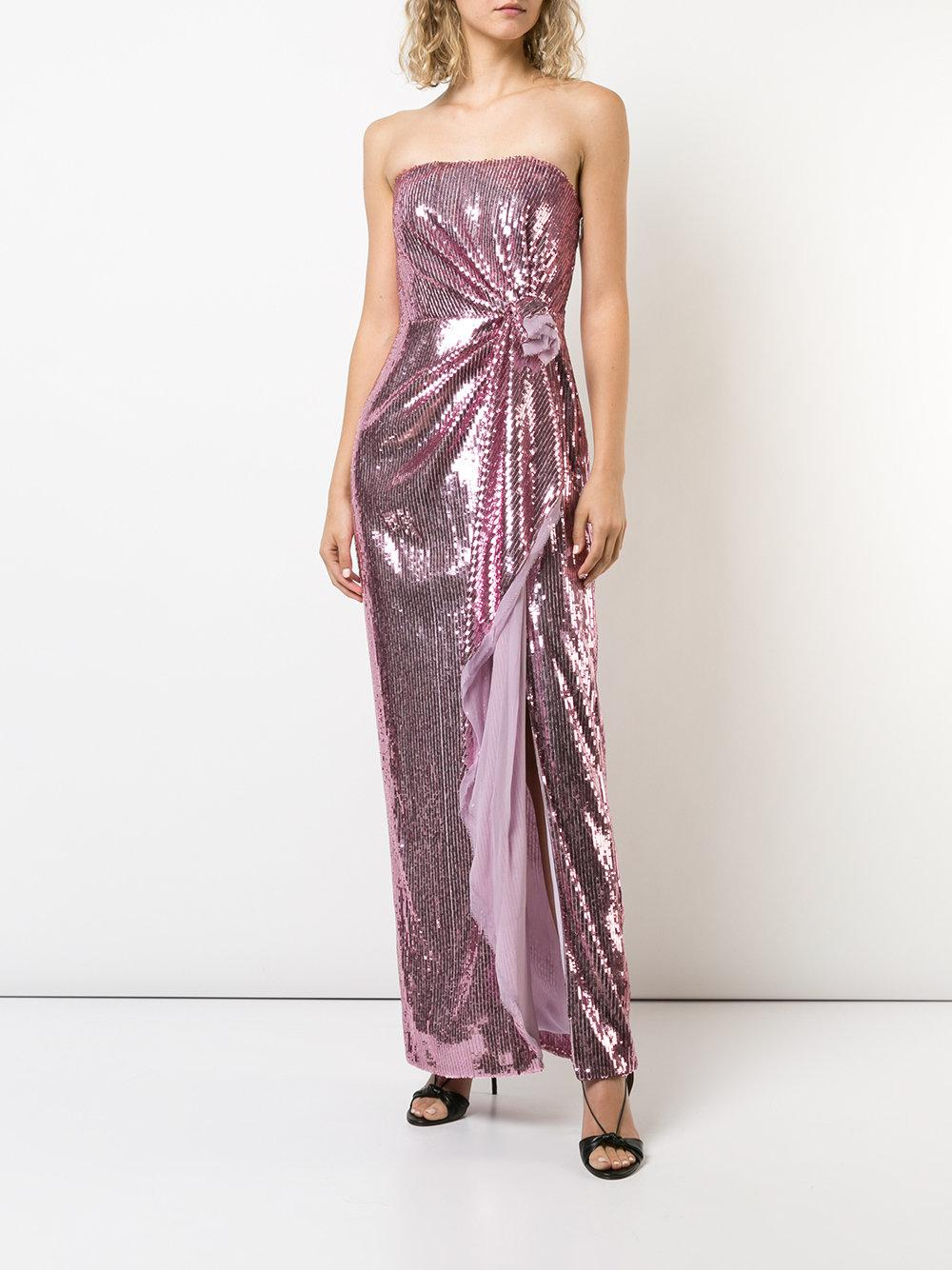 Prices strapless gathered sequin gown - Pink & Purple Prabal Gurung Free Shipping Discounts Free Shipping Wide Range Of fpEyi8