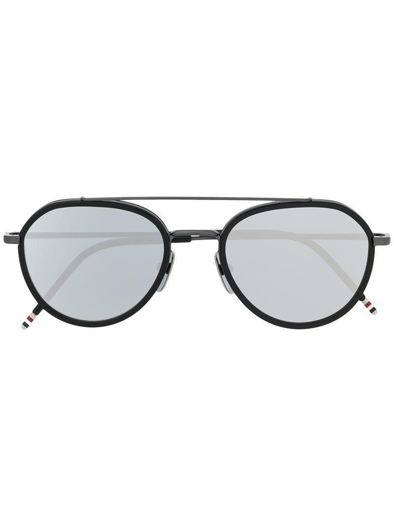 fbaa614b093 Lyst - Thom Browne Aviator Sunglasses in Black