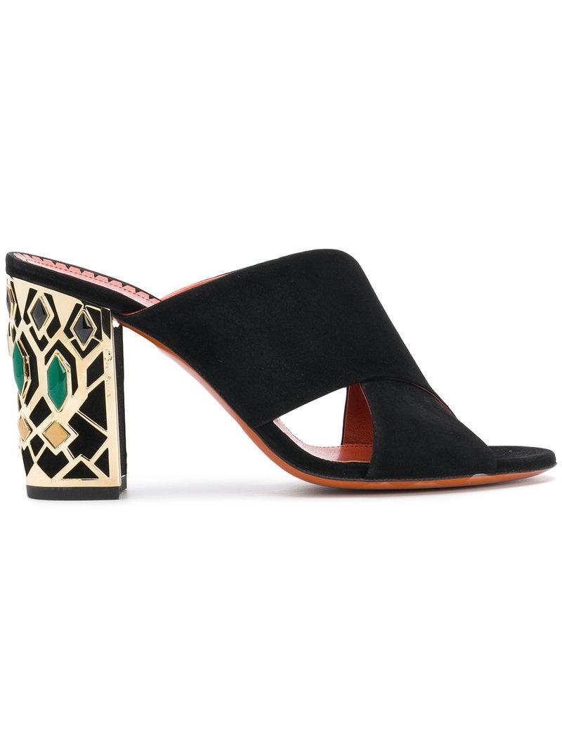 embellished heel sandals - Black Santoni uGi05bs9S