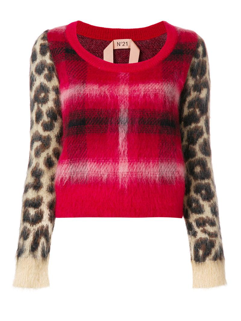 Free Shipping Official Huge Surprise checked sweater - Red N°21 Cheap Sale Pictures Visit New Cheap Price i7X9WRdaYC
