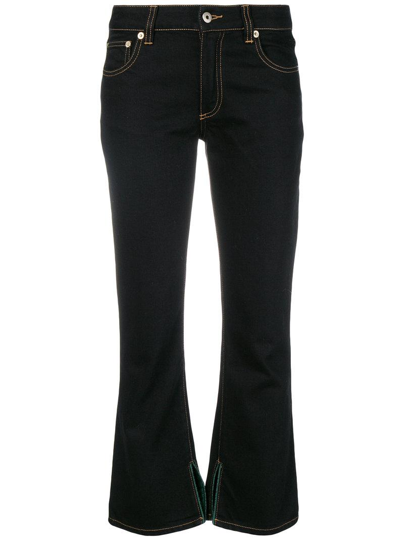 734db8c7e Lyst - Carven Cropped Kick Flare Jeans in Black