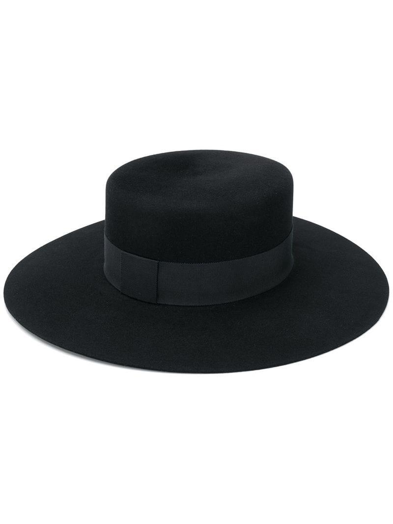 4e0acfaad29 Saint Laurent Andalusian Felt Hat in Black - Lyst