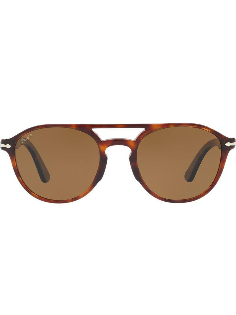 2463034a473eb Persol Round Sunglasses in Brown for Men - Lyst