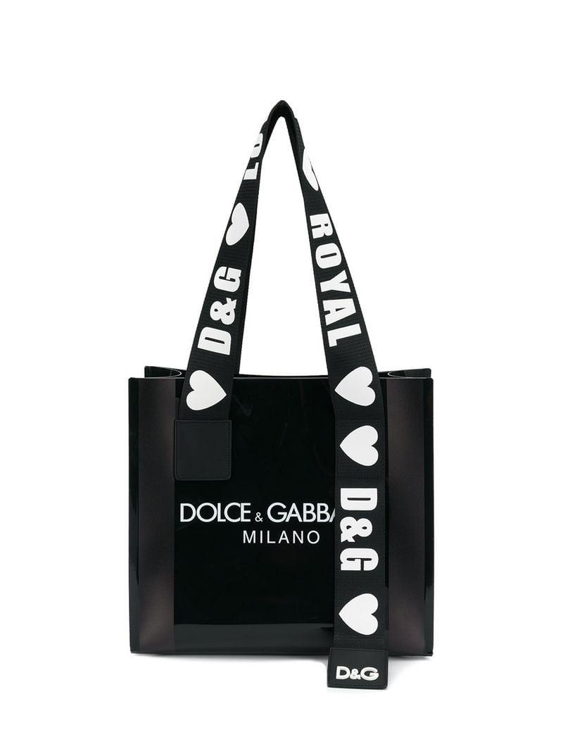 1b4ebe1facc4 Dolce   Gabbana Street Shopping Bag in Black - Lyst