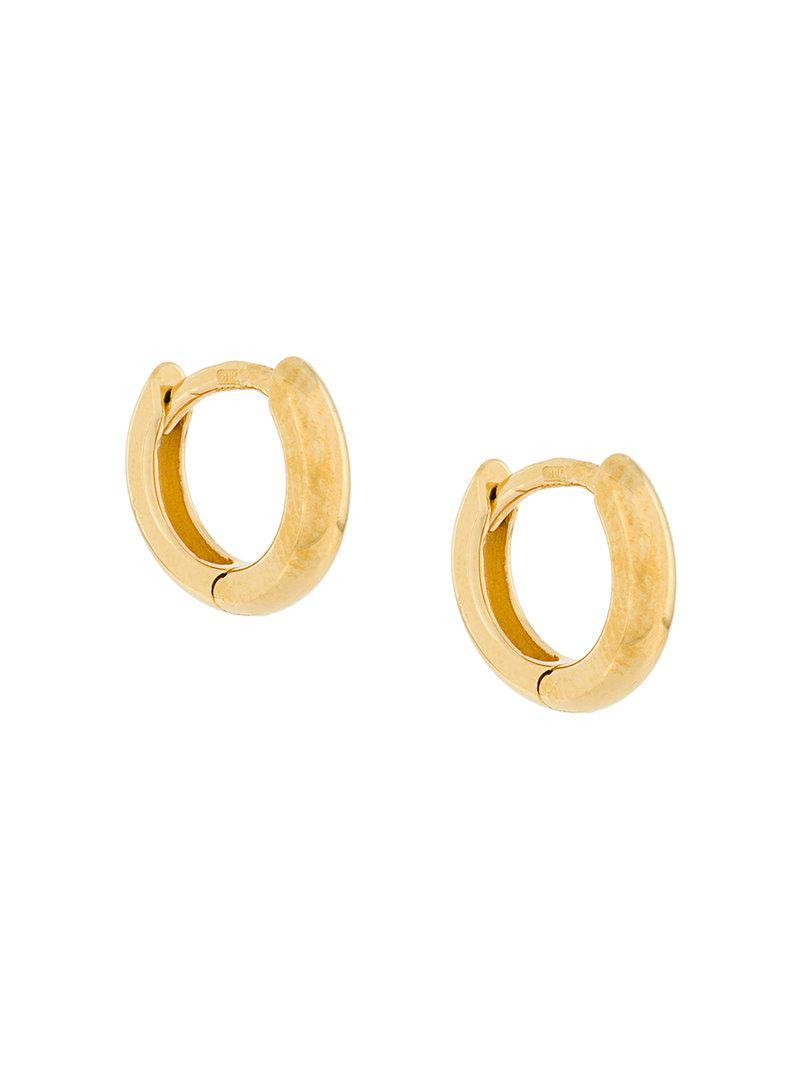 My Favourtie small chunky hoop earrings - Metallic Wouters & Hendrix vhCVib1P