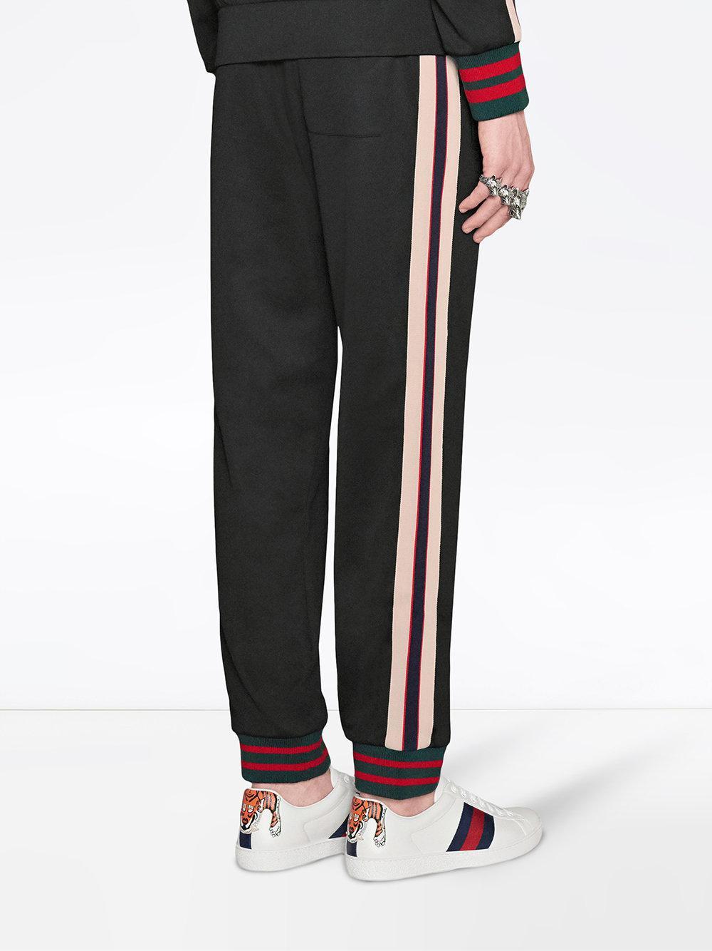 34001132a16c2 Gucci - Black Pantalones de punto técnico for Men - Lyst. Ver en pantalla  completa
