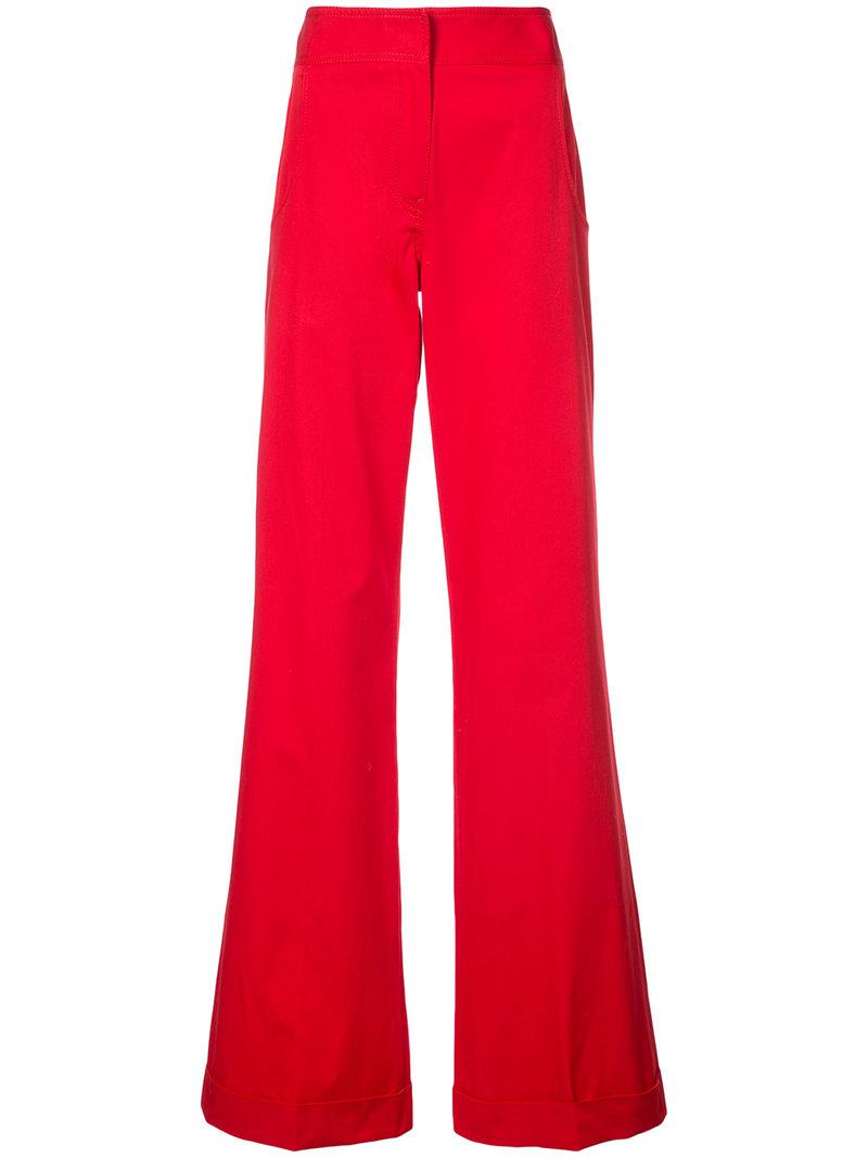 Wide Cuff Trouser - Red Derek Lam Low Shipping Fee Sale Online 82WY0EY6e5