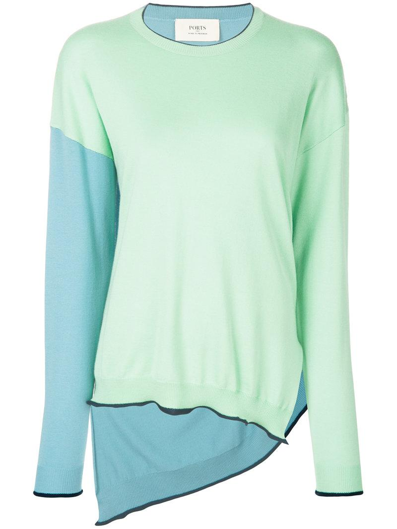 Official Cheap Price color blocked sweater - Green Ports 1961 Good Selling Cheap Price Free Shipping Low Price Fee Shipping Marketable TGtPMQpL