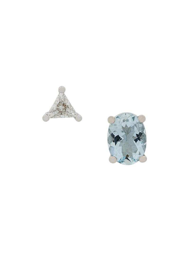 Delfina Delettrez 18kt gold Dots Solitaire diamond earring - Metallic