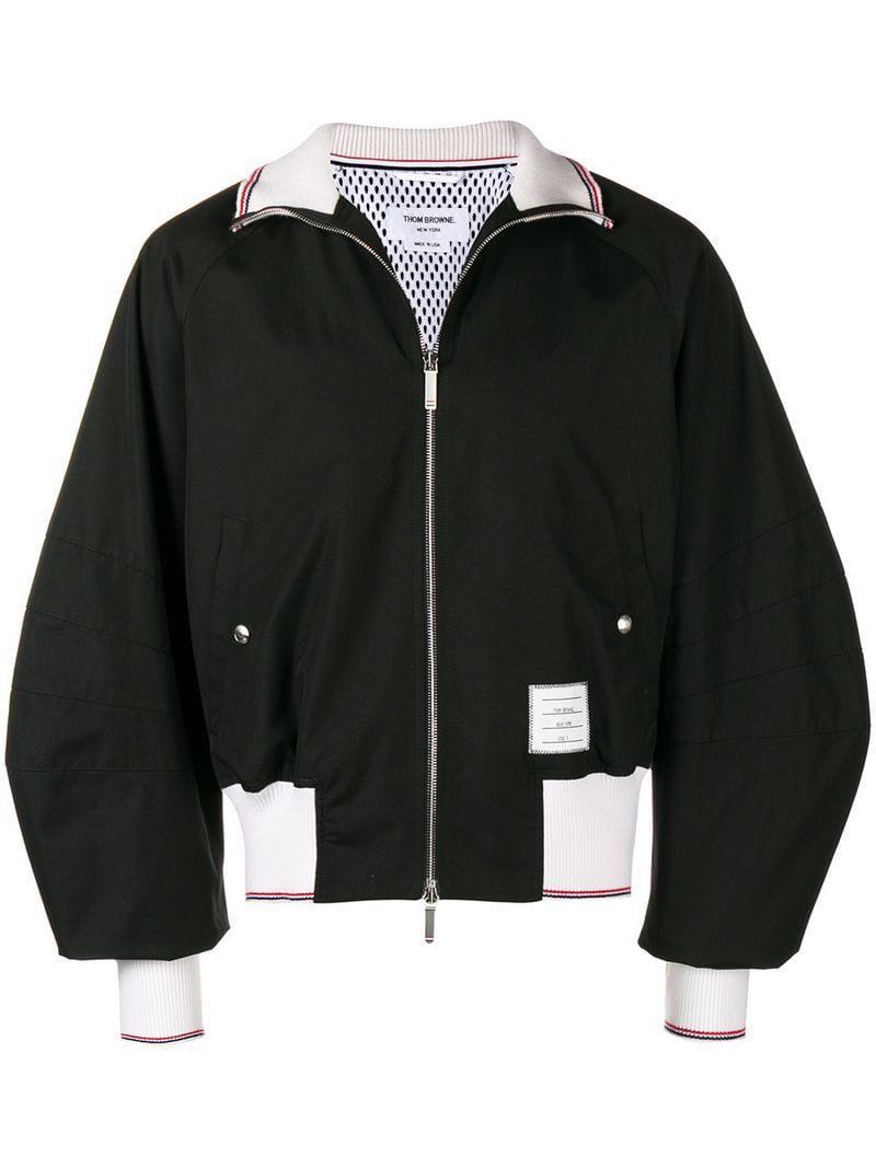 9805dd33dce Lyst - Thom Browne Contrast-trim Bomber Jacket in Black for Men
