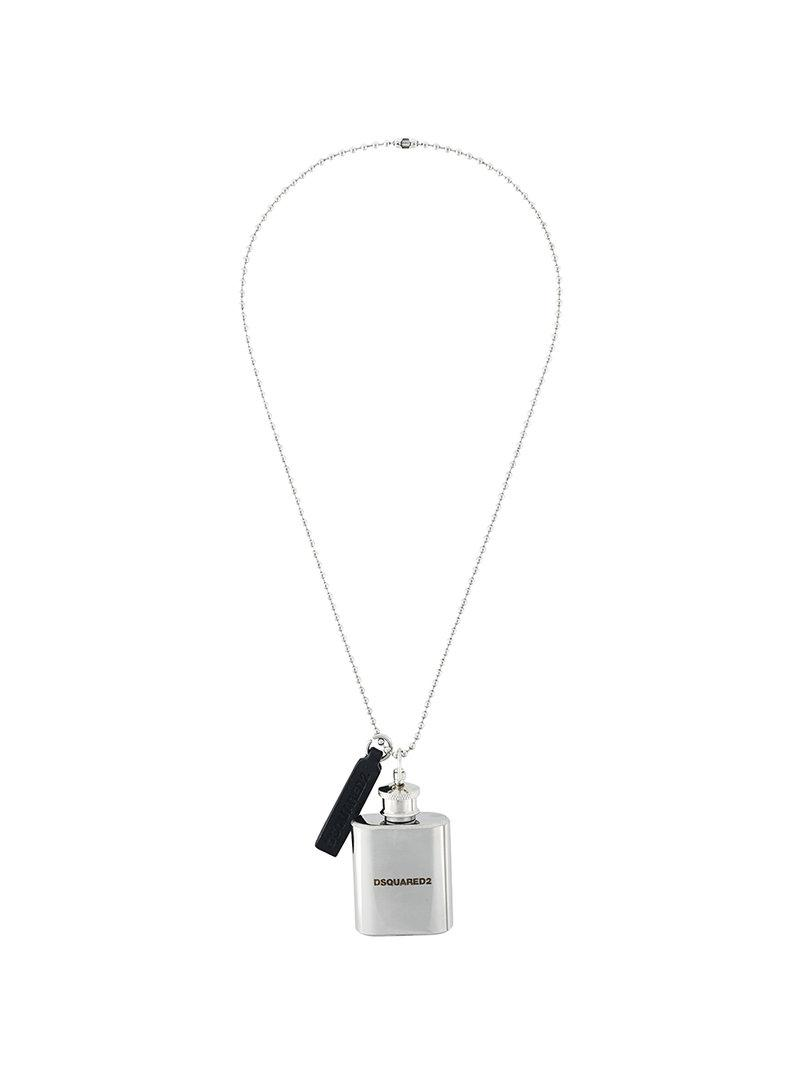 Dsquared2 hit flask chain - Metallic aRs96