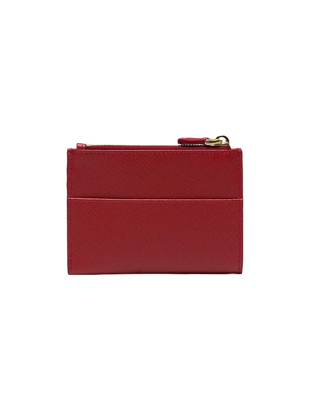 3960466a40a7 Prada - Red Saffiano Leather Cardholder - Lyst. View fullscreen