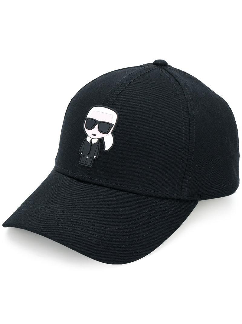 Karl Lagerfeld Karl Ikonik Cap in Black - Lyst 35f32aedd1a7