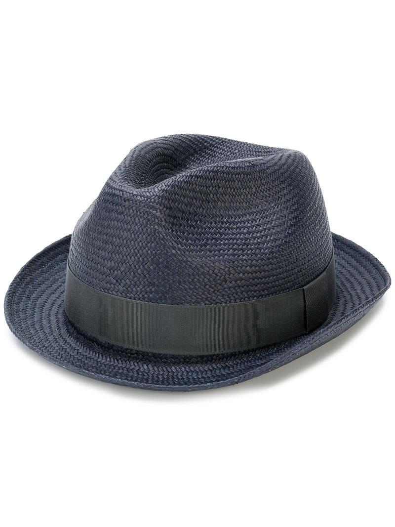982660a7 Paul Smith Panama Hat in Blue for Men - Lyst