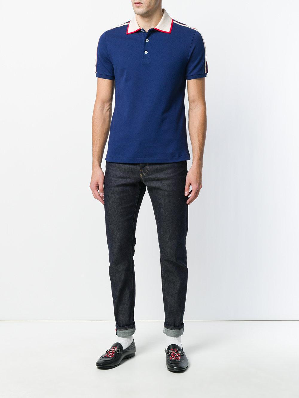 402af62a Gucci - Blue Logo Polo Shirt for Men - Lyst. View fullscreen