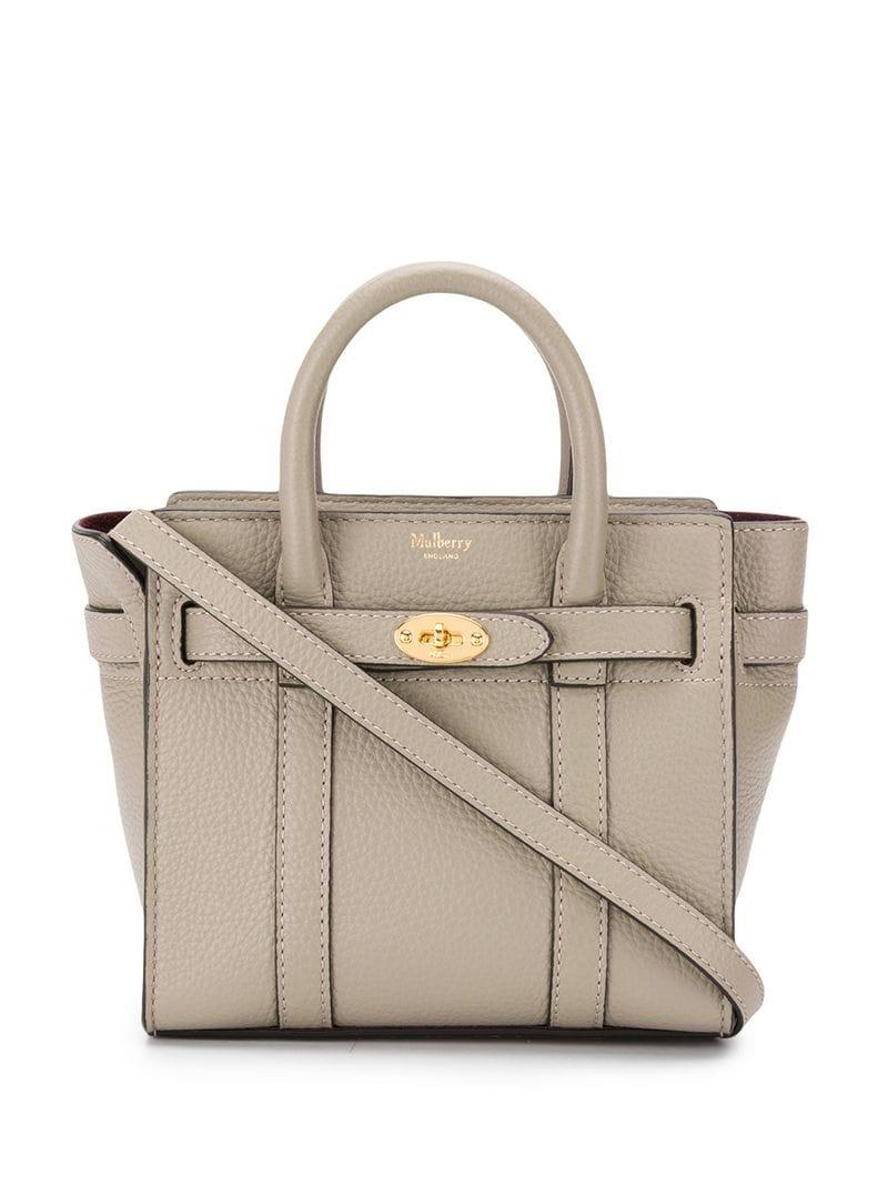 82bf5cfa54 Mulberry - Gray Bayswater Small Shoulder Bag - Lyst. View fullscreen