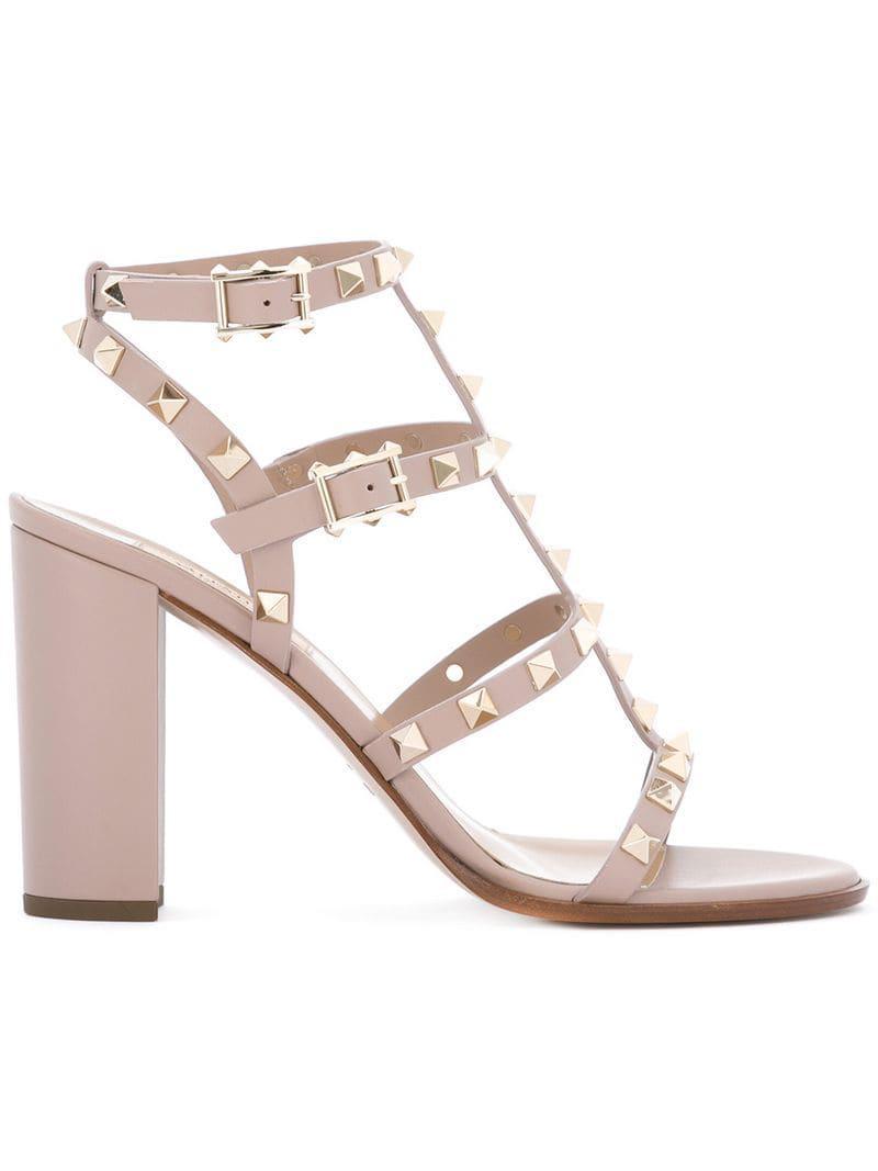 02192bf1856 Lyst - Valentino Garavani Rockstud Sandals - Save 27%