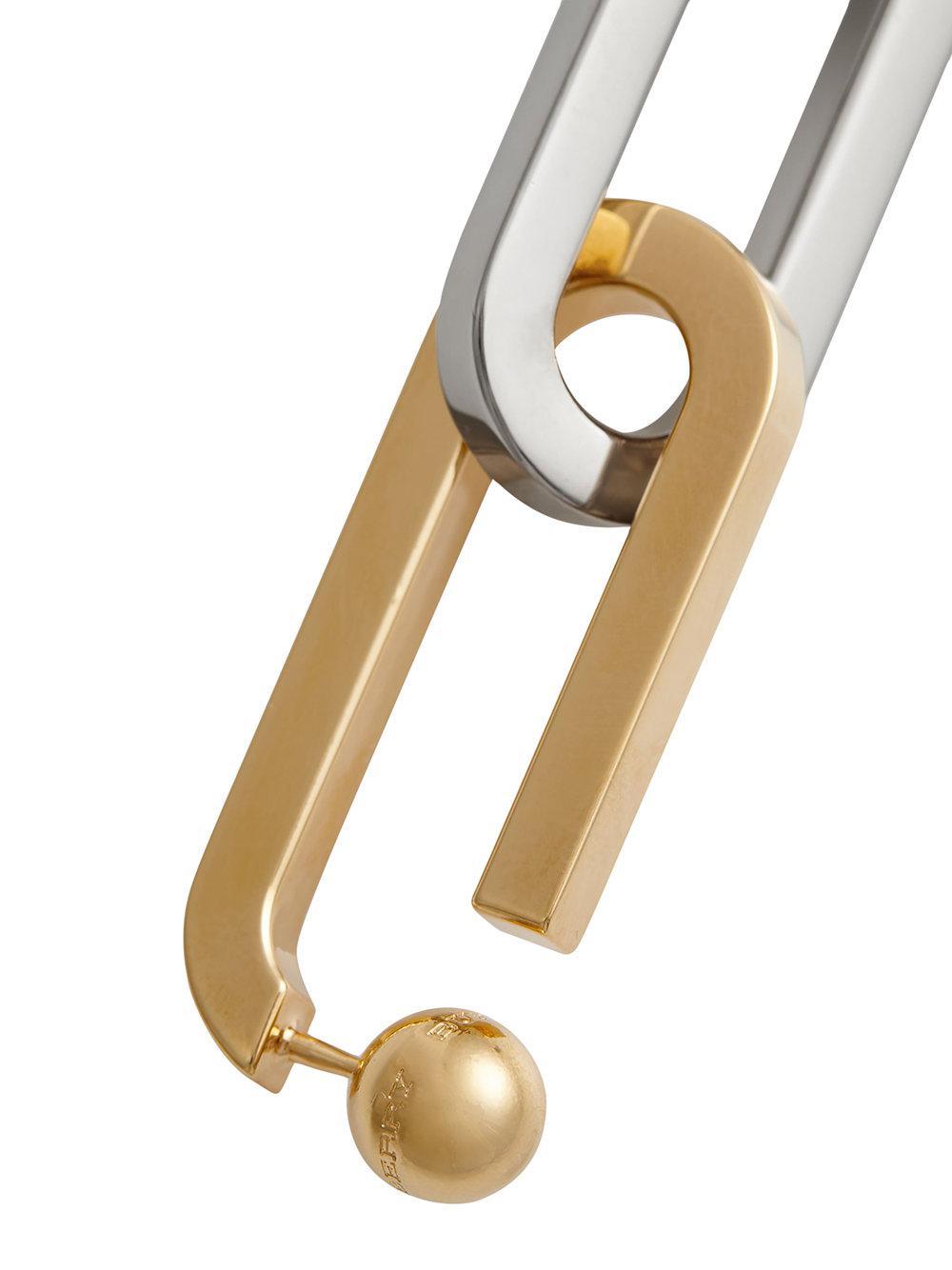Burberry Double-Link drop earring - Metallic WwDEvxCP