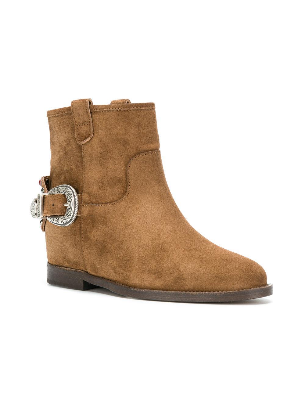 Via Roma Back buckle ankle boots gojbF
