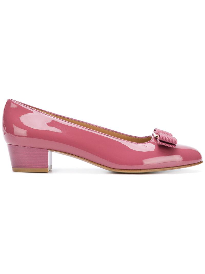 811b1635bef Ferragamo. Women s Pink Vara Bow Court Shoes