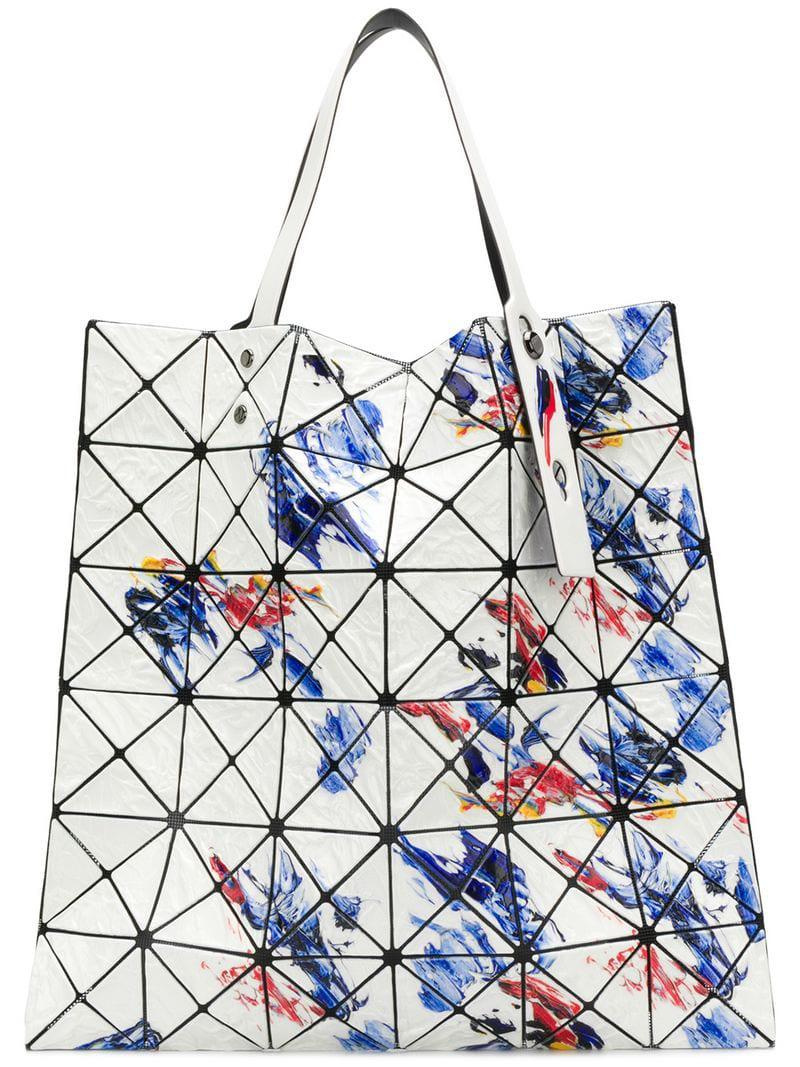 72036952c6 Bao Bao Issey Miyake Geometric Panel Tote Bag in White - Lyst