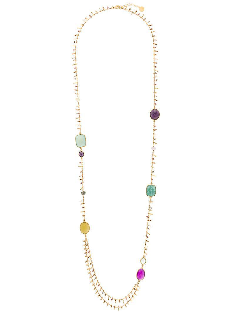 Gas Bijoux Serti Pondicherie long necklace - Metallic ynMA48H