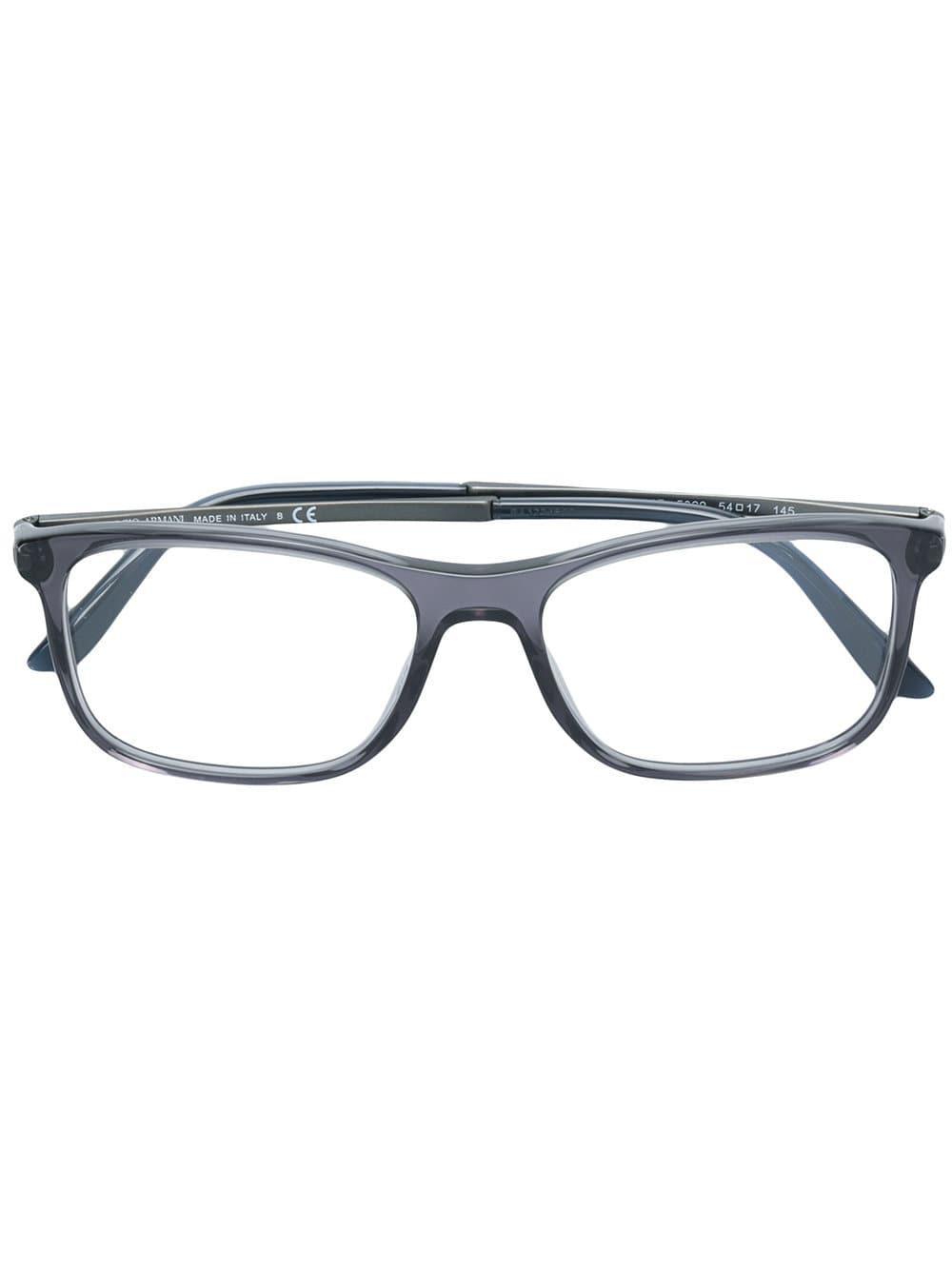 fd07832735b0 Giorgio Armani Square Shaped Glasses in Gray for Men - Lyst