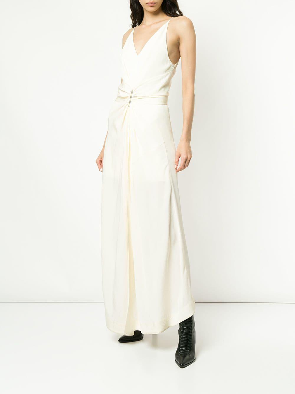 38802ce860 Dion Lee Cinched Plisse Dress in White - Lyst