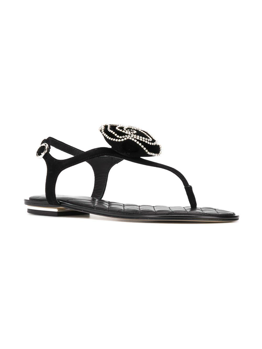 cbfe5d10f09cea Lyst - Michael Michael Kors Lucia Thong Sandals in Black