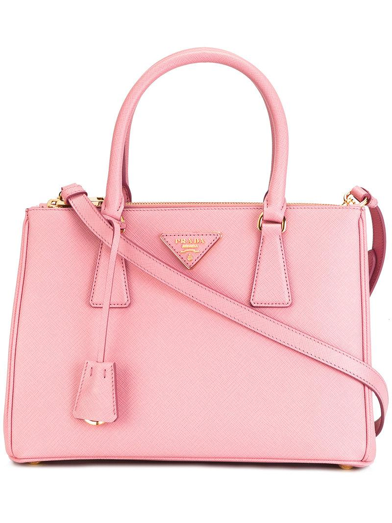 c87eedd58b85 Prada - Galleria Tote - Women - Leather - One Size in Pink - Lyst