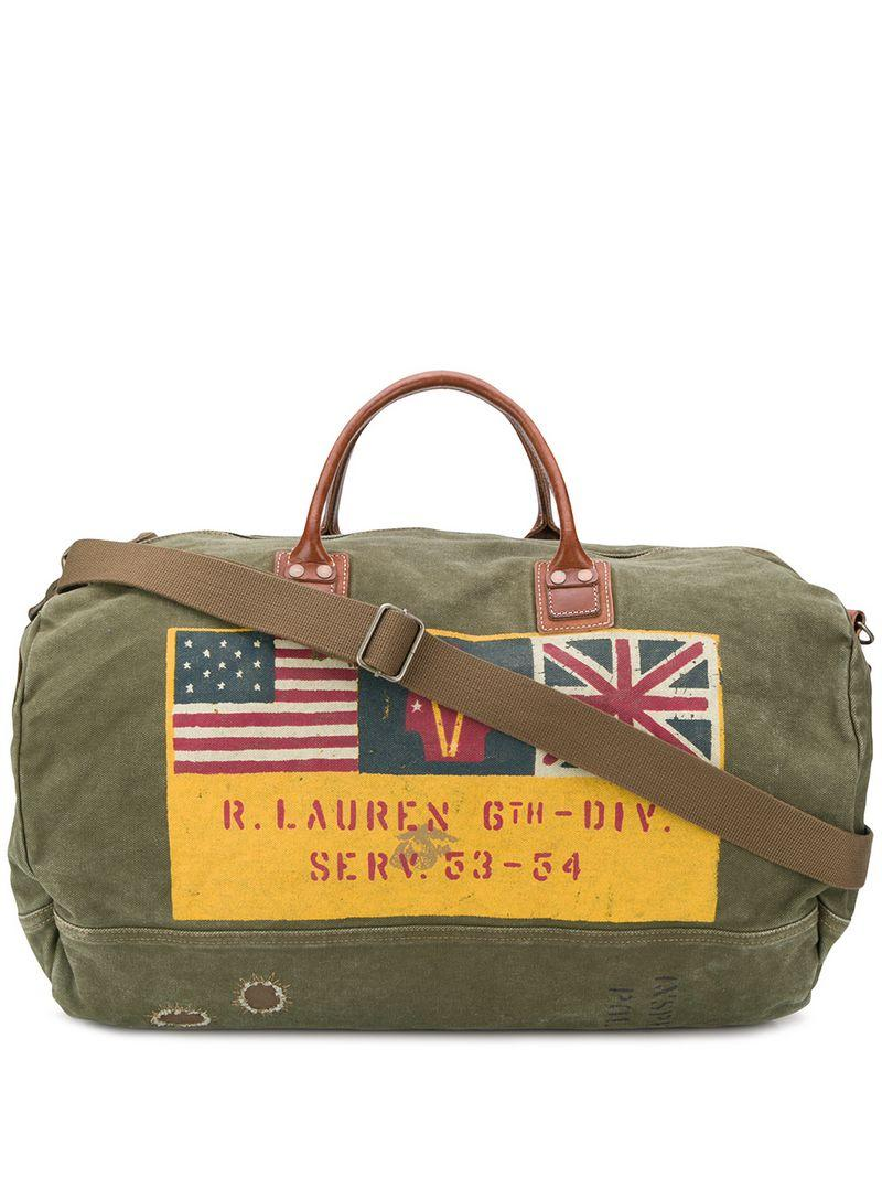 207f512af3 Polo Ralph Lauren Printed Holdall in Green for Men - Lyst