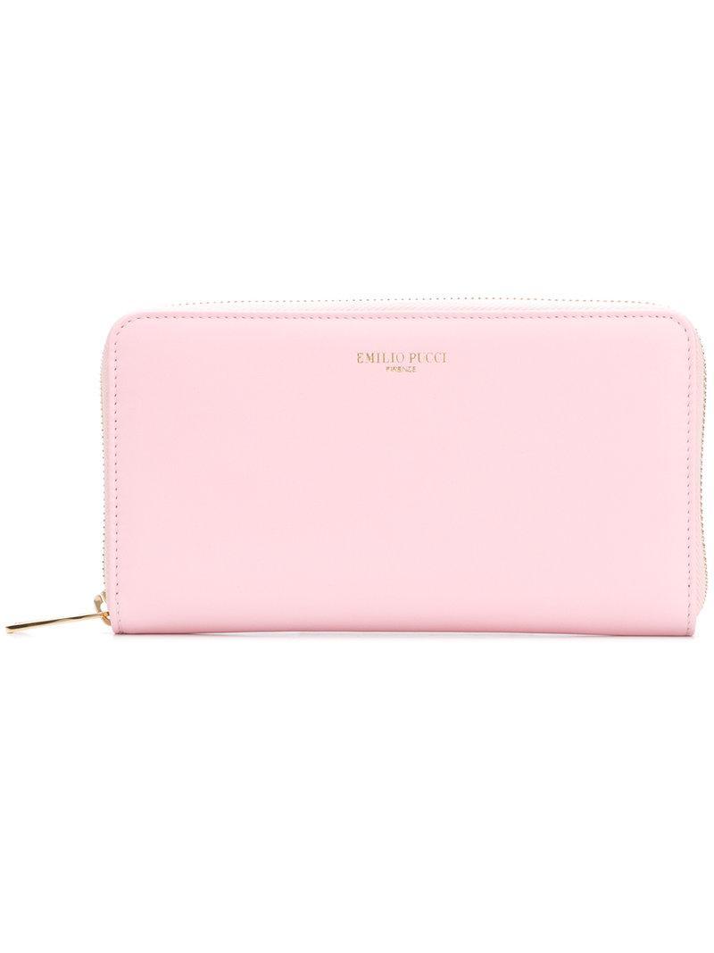 logo stamp billfold purse - Pink & Purple Emilio Pucci ZUVtR4