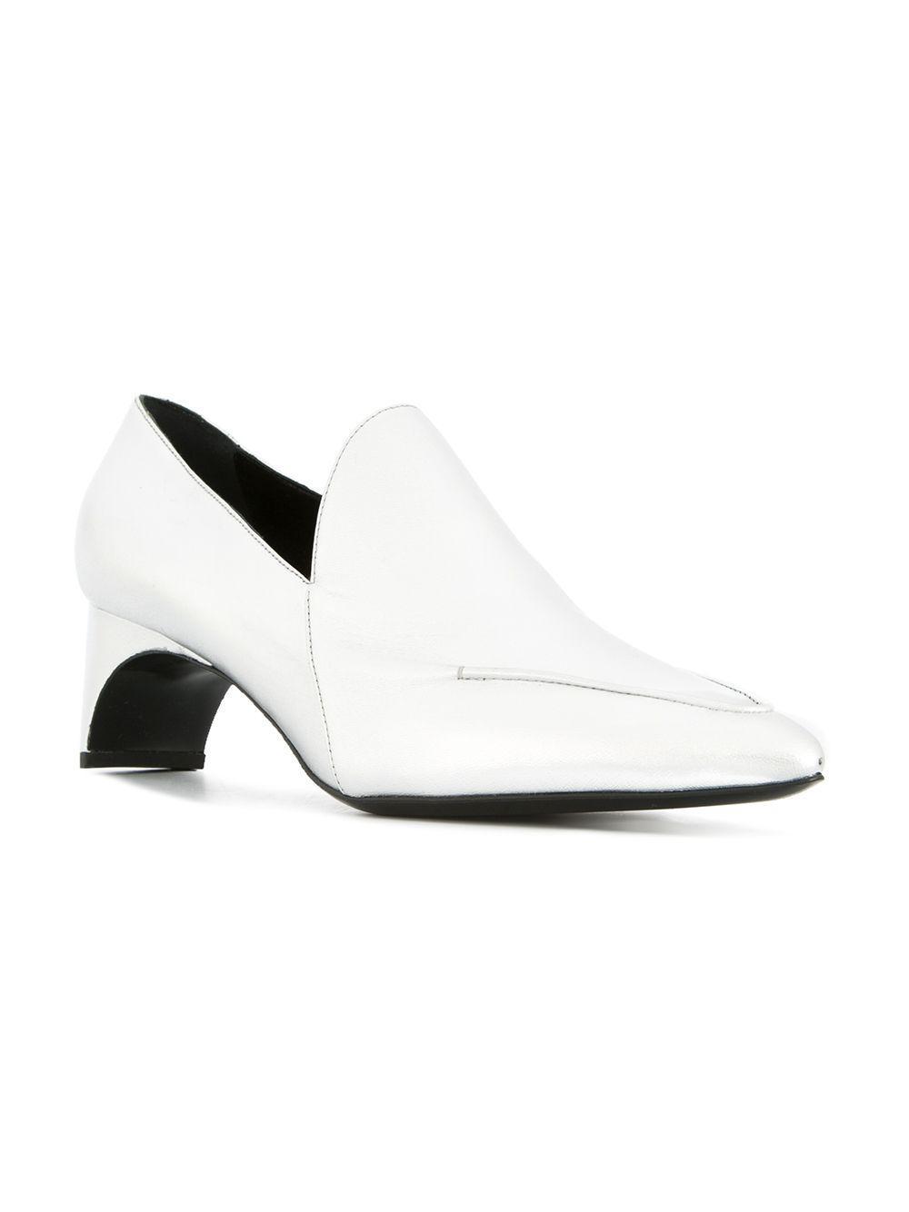 b487df96f14 Pierre Hardy Heeled Loafers in Metallic - Lyst