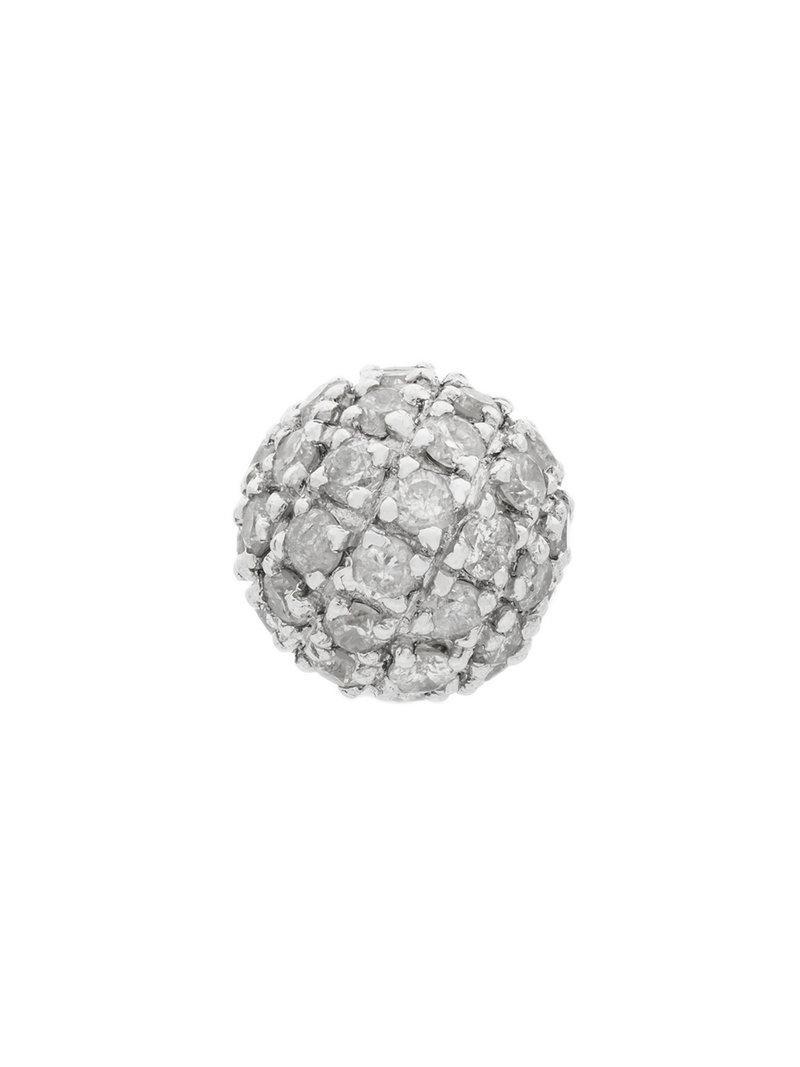Elise Dray embellished ball stud earring - Metallic PNj91
