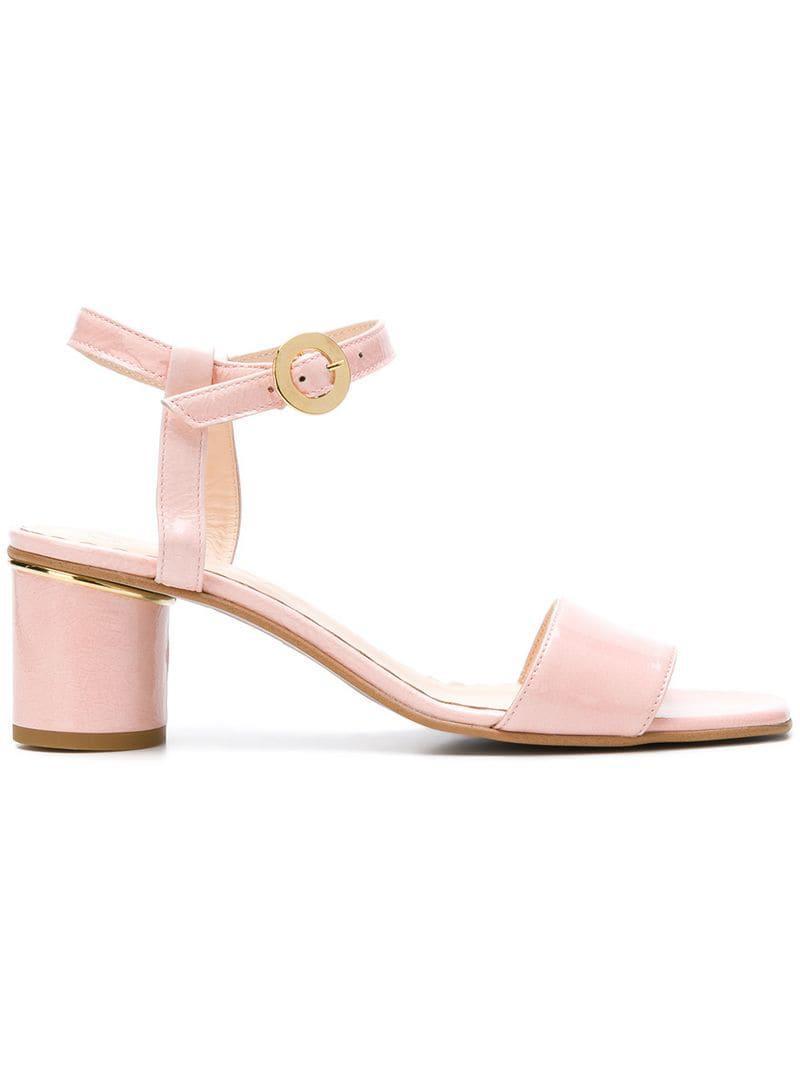 38d68f51cf6 Lyst - Stine Goya Oda Block Heel Sandals in Pink - Save 2%
