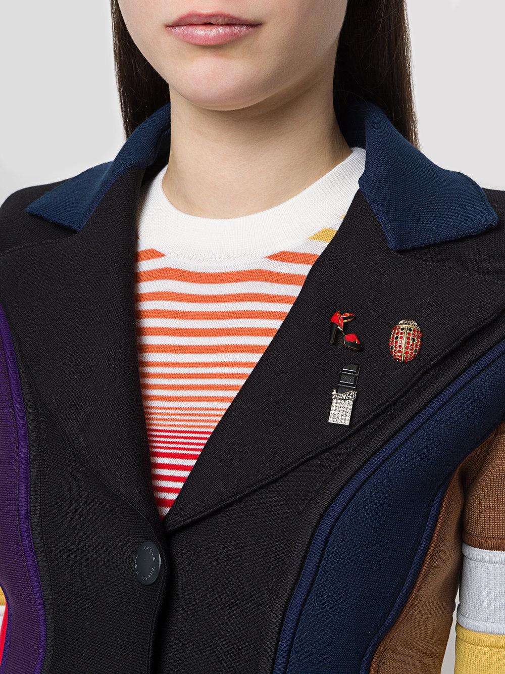 Sonia Rykiel rhinestone ladybird pin - Metallic OBdi4l3fO