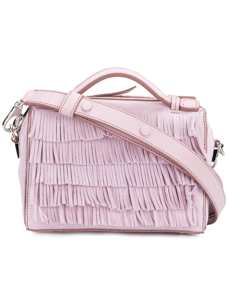 Under 50 Dollars Don Gommino Micro Bag with Fringes in Keepsake Lilac Suede Calfskin Tod's Cheap Sale Clearance CEL5bdUHo