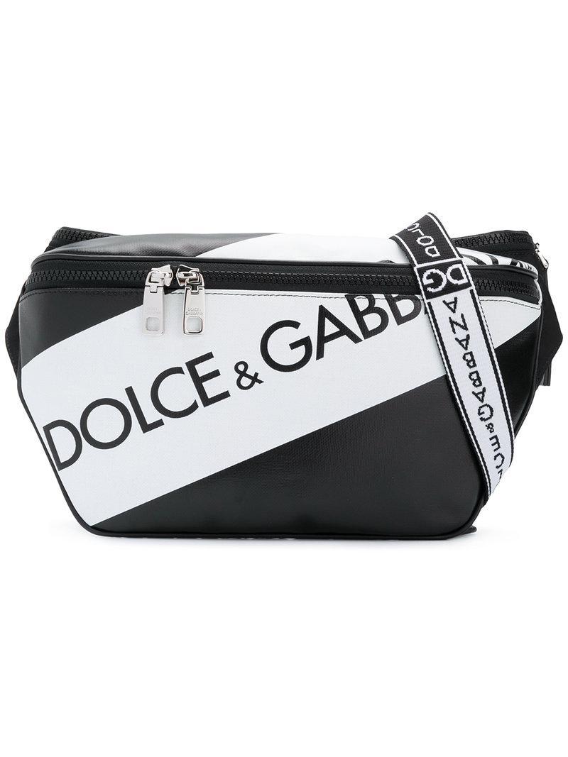 1de2d3b8afcd Lyst - Dolce   Gabbana Logo Panel Belt Bag in Black for Men