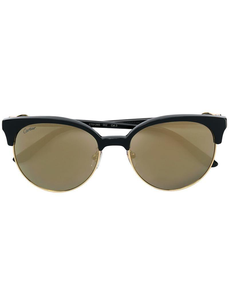6560e887284c9 Cartier - Black C Décor Sunglasses - Lyst. View fullscreen