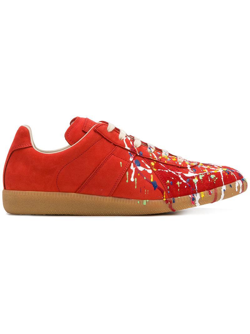 87971607ece1f Coloris Replica En Rouge Homme Maison Baskets Lyst Pour Margiela 5x6q0WBS