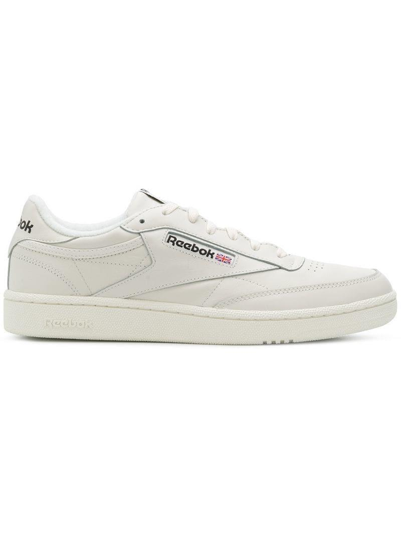 1e6e050943b Lyst - Reebok White Club C 85 Leather Low-top Sneakers in White for Men