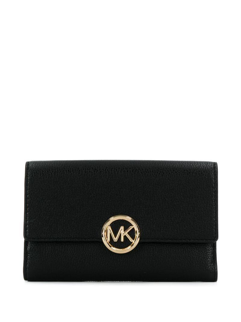 6942a0fc376e MICHAEL Michael Kors Bi-fold Logo Wallet in Black for Men - Lyst